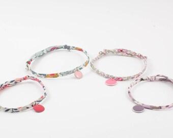 Bracelet in Liberty fabric Eloïse rose JoliPim'