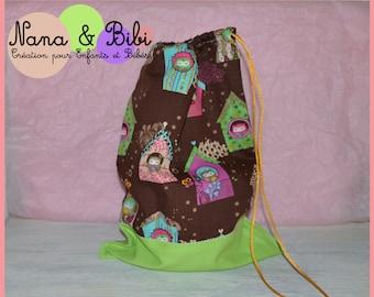 Cuddly bag / / storage - OWL Theme