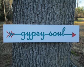 Gypsy Soul Wood Sign, BOHO Home Decor, Gypsy Wall Art, BOHO Sign, BOHO Wall Art,Gypsy Sign,Hippie Wall Art, Gypsy Soul,Carved Boho Wood Sign