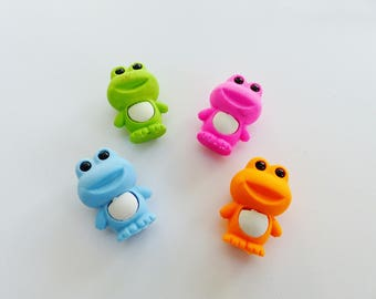 Set of 4 rubber frog animal fun supply kit
