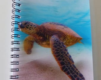 cover in 3D sea turtle notebook A6 size animal pets spiral