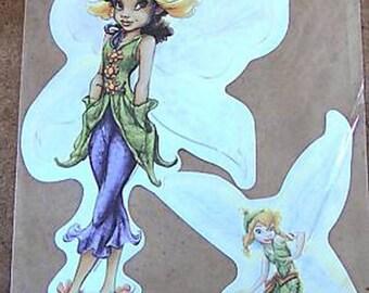 STICKERS for furniture DECORATION child * fairy B * 32 cm x 21 cm