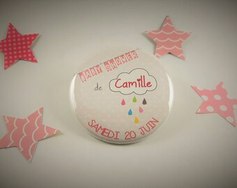Baby Shower 'girl' 10 magnets + date