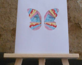 Multicolored Butterfly iris folding card