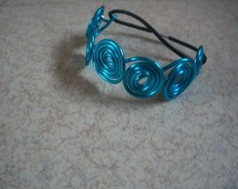 Blue aluminum Wire Bracelet