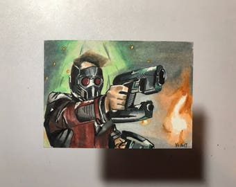 Guardians of the Galaxy Star Lord - Artist Sketch Card