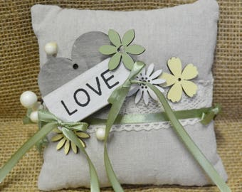 Pillow your natural anise and linen