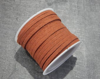 5 m suede 3x1.5mm caramel color