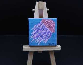 Miniature Jellyfish Painting