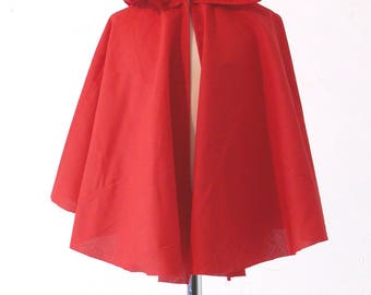 Red Cape 9-12 years old little Red Riding Hood costume