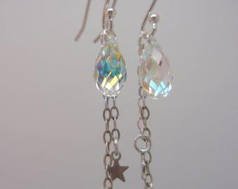 """Earrings """"Ophelia"""" iridescent Crystal"""