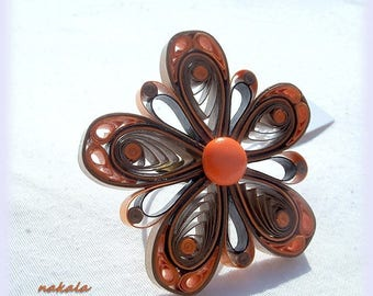 * SALE * unique ring made of paper, varnished