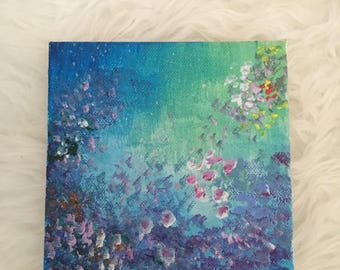 Small Floral Dark Painting