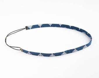 The headband EYRAGUAIS blue & white elastic