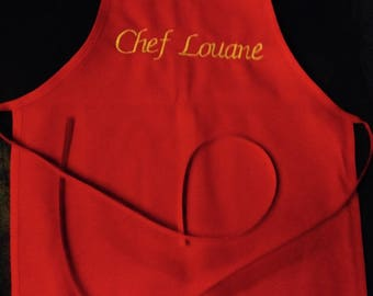 Apron red head for children 2 to 6 years
