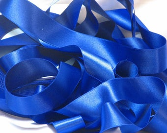 By the yard Royal blue satin ribbon