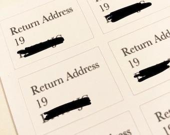 Personlised return address stickers, packaging labels, posting stickers, posting labels