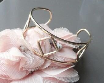 Gold-customize Bangle Cuff Bracelet