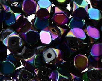 Hematite beads with 4 mm faceted - round - 100 pcs - new