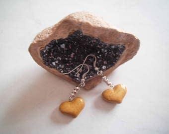 Nice pair of heart earrings