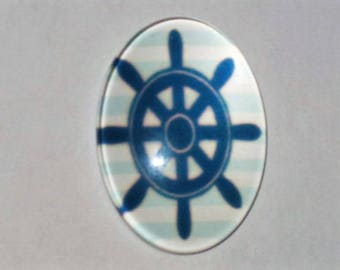 """Toped"" in size 18-25mm glass cabochon"