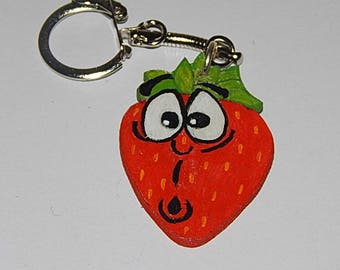key-Strawberry wooden expression surprised