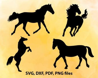 Horse SVG File, Horses DXF, Horse Cut File, Horse PNG, Horse Cricut, Horse Silhouette, Horse Vector art, Horse studio, Horse Cutting, Horses