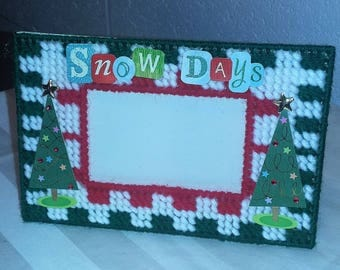 Picture Frame - Snow Days Checkered
