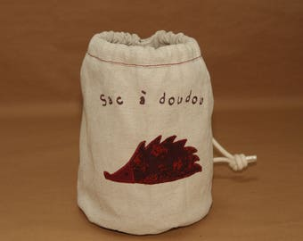 Sakadoudou - duffel bag, hedgehog pattern