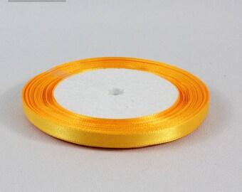 5 Metters Yellow Gold 6 mm satin ribbon