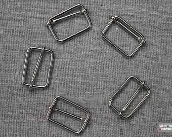Set of 10 loops sliding nickel-plated 25 mm made in Italy for shoulder strap adjustable handbag