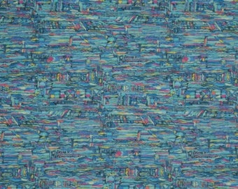 "Coupon - 33.3 cm x 135cm Liberty of London fabric - blue. ""Belief""."