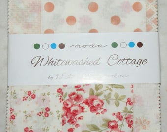 "Patchwork charm pack by moda - ""Whitewashed Cottage""."