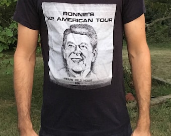 Authentic 1980s Ronald Reagan Campaign T-Shirt