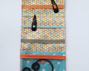 Pocket barrettes and elastics pastels