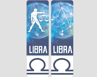Libra Zodiac Sign Indestructible waterproof bookmark