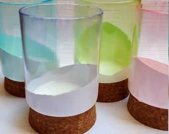 Sea Glass Painted Vase