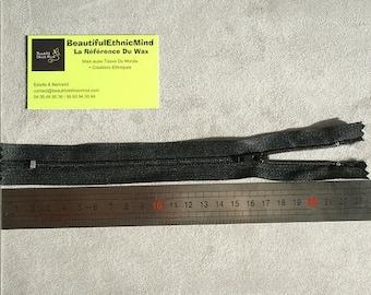 Black zipper 20cm