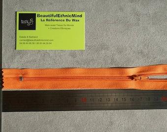 Orange zipper 20cm