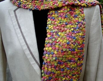 multicolor cotton scarf