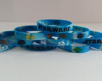 Glow in the Dark – STAR WARS Inspired Kids Bracelets and Birthday Party Favors (10 pack)