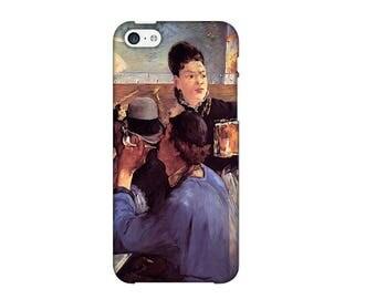 Case for iPhone 4-5-6-7, corner Café Edouard Manet