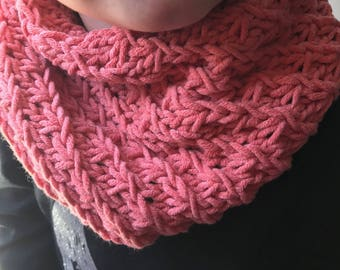 Coral girl Snood perfect mid-season 2-6 years
