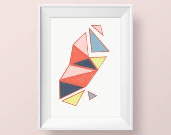 Abstract Print, Small Abstract Art