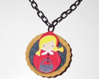 Tart little Red Riding Hood necklace