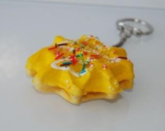 Vanilla and soft waffle keychain