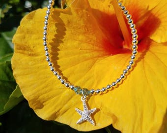 Starfish Sterling Silver Beads