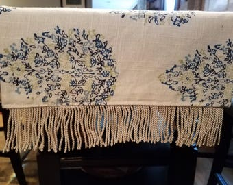 Blue and Green Floral Table Runner/Dresser Scard