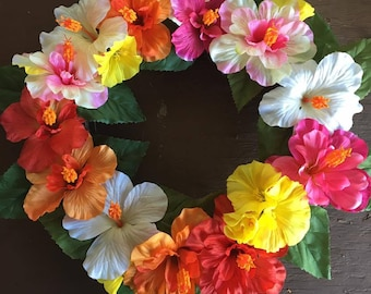 Tropical Flower Wreath