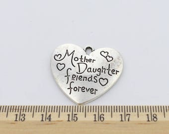 5 Mother daughter friends forever Charms - EF00083